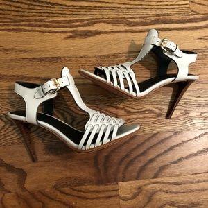 "Coach ""Izzy"" white leather heels size 6.5"
